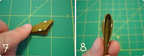 Como dobrar kanzashi 4
