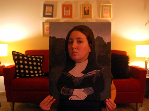 me in my mona lisa canvas + tutorial on blog