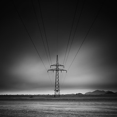 Puppet Show (Ageel) Tags: longexposure sky bw white black hail clouds square photography nikon desert squares awesome perspective sigma explore saudi arabia powerline sa 1020mm sq bnw squared d300 explored ageel