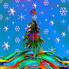 MERRY CHRISTMAS AND A HAPPY NEW YEAR EVERYONE (artyfishal44) Tags: christmas natal weihnachten navidad outsiderart peace earth noel glad presents sensational 1001nights natale smorgasbord theunforgettablepictures colourartawards goldstaraward awardtree tideings