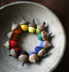rainbow acorn color wheel (lilfishstudios) Tags: color wool felted rainbow felting handmade craft acorns wetfelting lilfishstudios