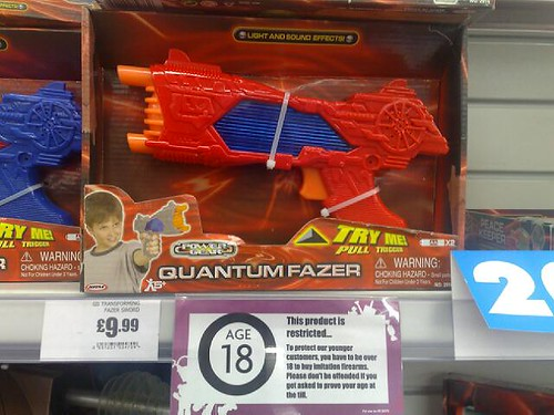 Toy gun in Woolies