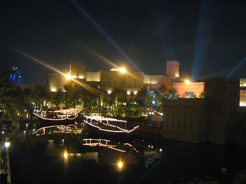 Madinat Arena at night