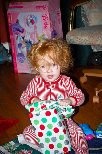 Lilli on Christmas morning