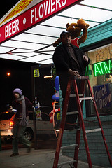 cakerun (horrorshow696) Tags: bear christmas man basketball cake ladder