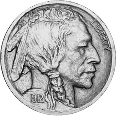 1912 Buffalo Nickel model