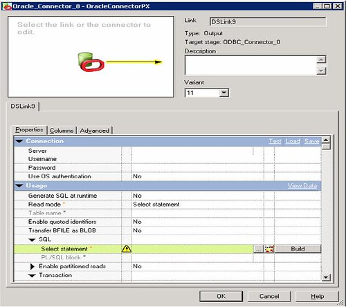 How the IBM Information Server uses Oracle metadata and data