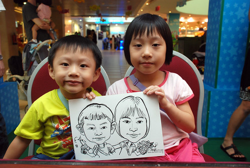 Caricature live sketching for Marina Square Day 2 - 1c