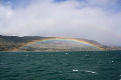 Fiordo Última Esperanza, Chile (Ramon Borquez) Tags: arcoiris mar fiordo doblearcoiris fiordoúltimaesperanza