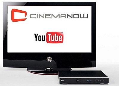 LG Blu-ray and YouTube