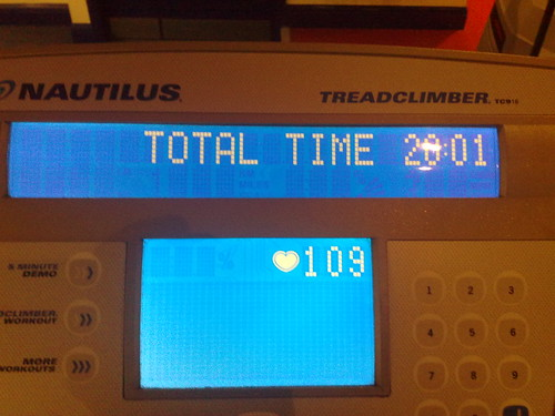 #gym 2-1-09 Treadclimber Time