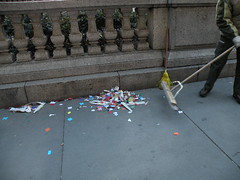 clean sweep (juhhhsteeen) Tags: nyc confetti leftovers