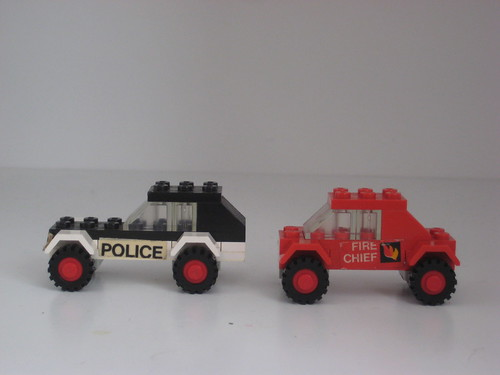 Lego Fire And Police Car 1978