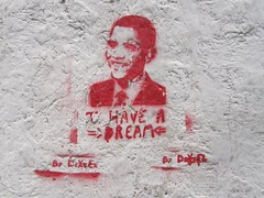 Rio Street art Obama I have a dream....