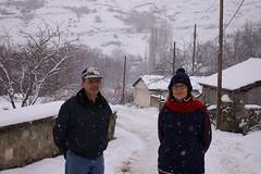 Mom and dad (slampoud) Tags: snow mom dad greece prespes agiosgermanos