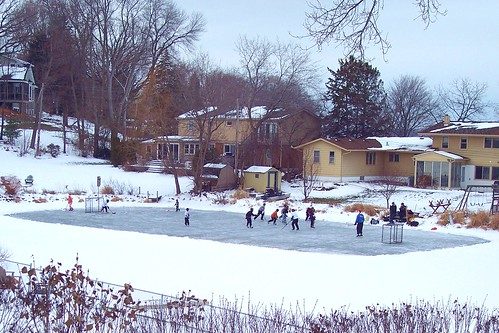 Pond Hockey in White Bear Lake, MN by scostello22