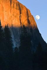 """Yosemite - """"El Capitan-Moon Rise"""" .jpg (YOSEMITEDONN) Tags: california sunset beautiful beauty nationalpark moonrise yosemite elcapitan"""