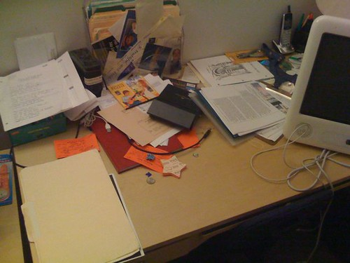 Clearing the desk 3