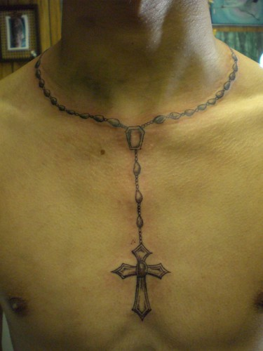 Rosary Necklace Tattoo