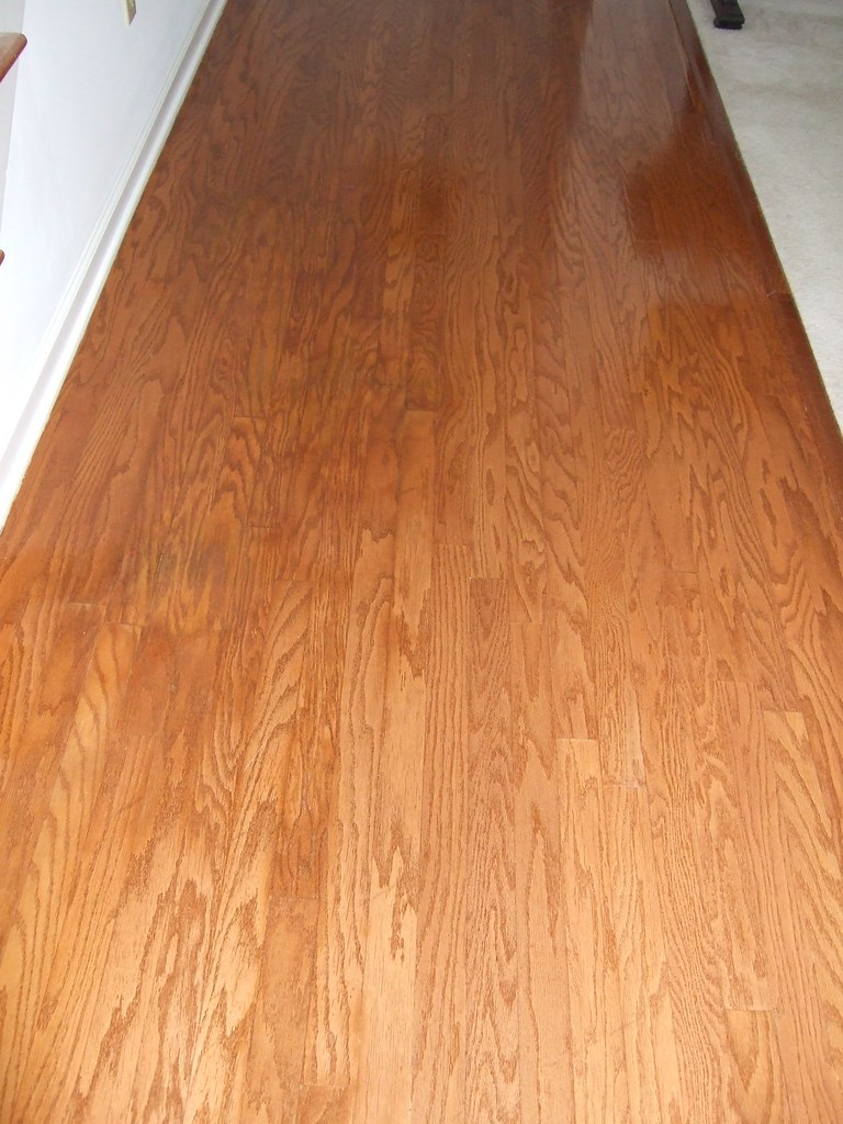 Hall Wood Floor Refinished