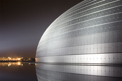Beijing (arndalarm) Tags: china light reflection lamp night licht nacht beijing symmetry   peking nationaltheatre reflektion theegg  leuchte symmetrie bijng paulandreu asymmetrya nationalgrandtheatre arndalarm zhnggu  nationalcentrefortheperformingarts img5115v20r151klein