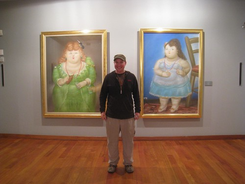 Between two of Botero's beauties