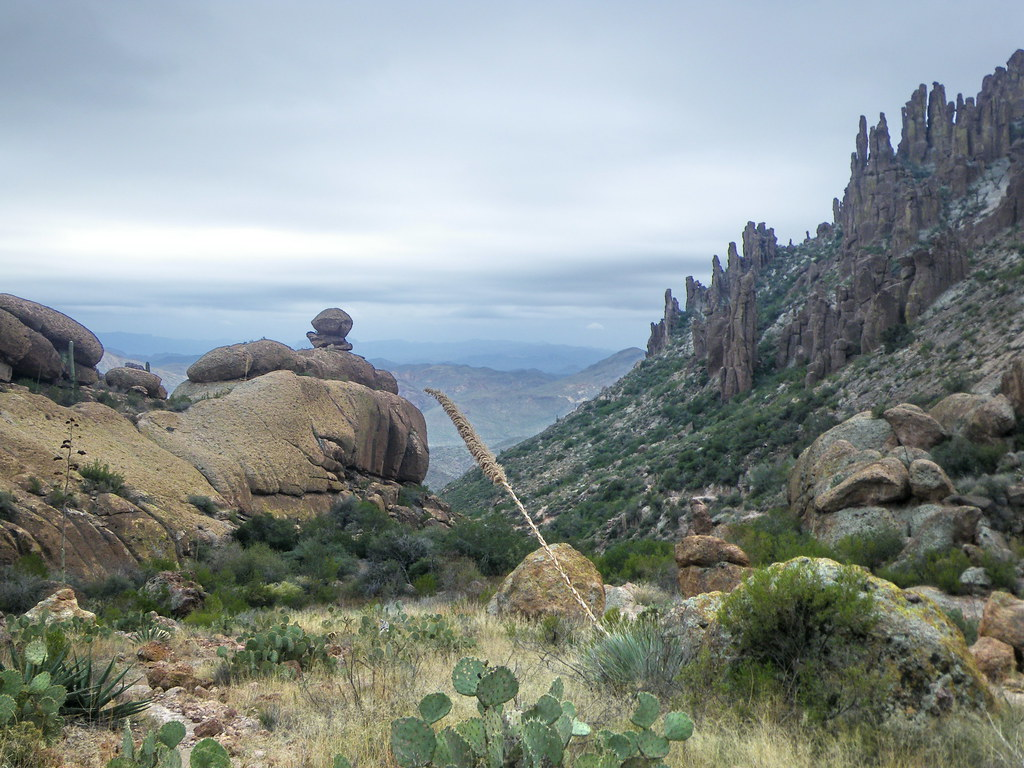 Looking south down Peralta Trail - Superstition Wilderness