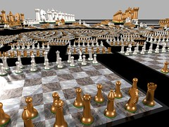 Before the Battle (fdecomite) Tags: circle spiral packing chess math doyle chessboard povray
