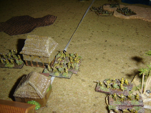 Second line of Japanese defenders
