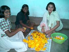 Blossoms (lindzmarsh) Tags: school girls india rural dance chai calcutta