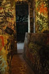 fire dor (LesserGods) Tags: sanfrancisco old brick graffiti earthquake industrial homeless demolition forgotten urbanexploration hunterspoint bayview tuna cannery wasteland caltrans abandonedbuildings condemed scrappers lessergods isliascreek apaladini lessergodsphotostream