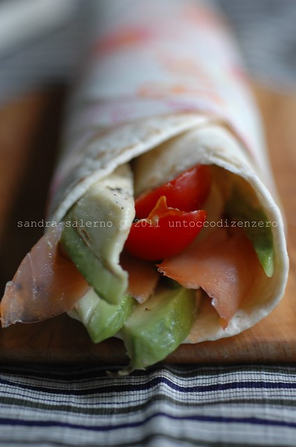 wraps salmone & avocado