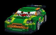 Nigel Gearsley - Disney / Pixar Cars 2 Movie Character (lego911) Tags: auto cars car championship model martin lego render disney pixar british challenge lemans touring aston cad sportscar hillclimb racer lugnuts db9 moc nurburgring ldd dbr9 miniland cars2 db9r nigelgearsley