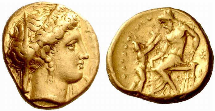 An Excessively Rare Greek Gold Stater of Tarentum (Calabria), Among the Most Desirable of all Greek Gold Issues
