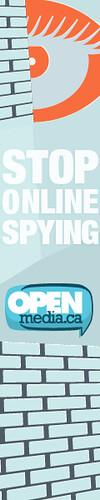 Stop Online Spying Skyscraper Ad