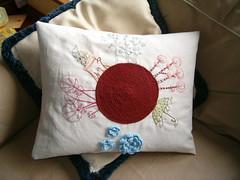 world pillow #011 (rosaechocolat) Tags: embroidery available algodo almofadas