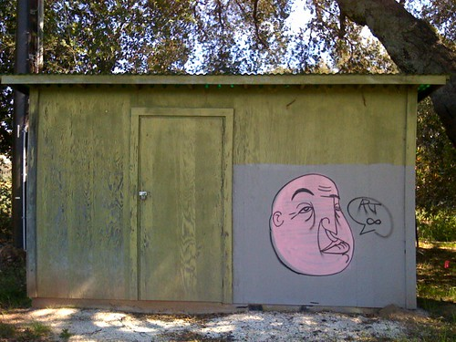 Art on a shed