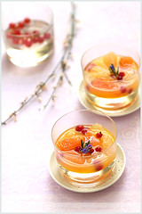 Fruit Soup (La tartine gourmande) Tags: light orange dessert berries rosemary grapefruit refreshing redcurrants latartinegourmande fruitsoup beatricepeltre