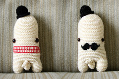 (sandra juto) Tags: white wool alpaca hat naked nude toy handmade crochet moustache buttcrack