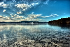 ~Ice on the water~ (T1ger) Tags: sky reflection ice norway landscape frozen trondheim hdr landskap trndelag mywinners anawesomeshot isvann