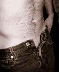Bukowski was a Friend of Mine (Napalm Cupcake) Tags: man male body jeans buttonfly charlesbukowski studyofthemalebody