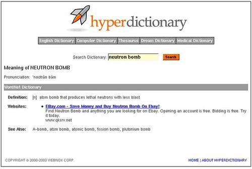 ebay is your one-stop Neutron Bomb store