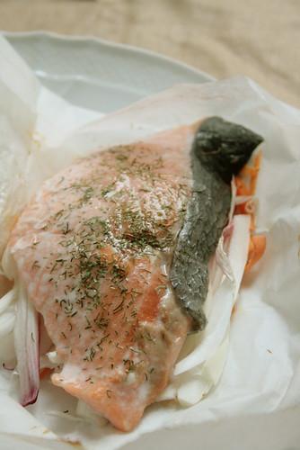 papillotte de saumon