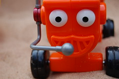 A little Dizzy (Gary Purdue) Tags: red macro toy sand bob dizzy builder project365