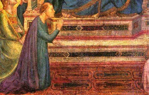 Giotto, Stefaneschi Altarpiece, ca. 1298, detail of animal carpet, Vatican