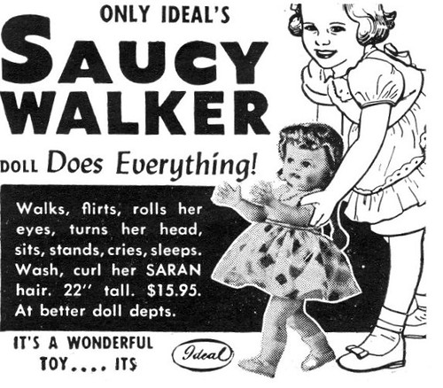 IMG Saucy Walker ad early 1950s
