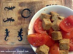 Tofu Al Basilico Con i Pomodorini