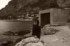 Sulle sponde abusive (Dreamer79 @ Rome) Tags: costa faro sara mare palermo colori paesaggi bellezza rovine abbandono modella capozafferano