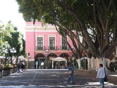 Plaza Principal in Puebla (sftrajan) Tags: plaza pink mexico arcade piazza puebla rosada zcalo centrohistrico  plazaprincipal angelopolis  mxihco ciudadcentral centrohistricoiberoamericano