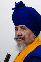 Warrior (gurbir singh brar) Tags: blue portrait india asian warrior turban sikh punjab singh flickrsbest nihang budhadal flickrelite peoplesofindia gurbirsinghbrar dyalsingh